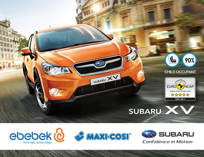 Subaru XV ve Maxi-Cosi ile çocuklar güvende
