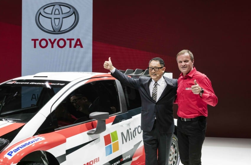 Toyota Başkanı ilk kez Avrupa'da bir fuara katıldı