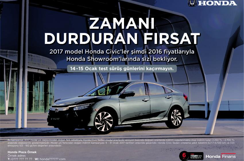 Honda'dan Ocak ayına özel fırsatlar