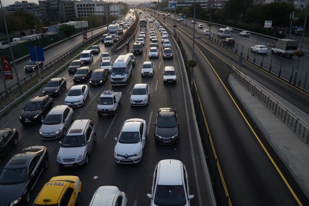 Heavy Traffic at The Sisli Istanbul