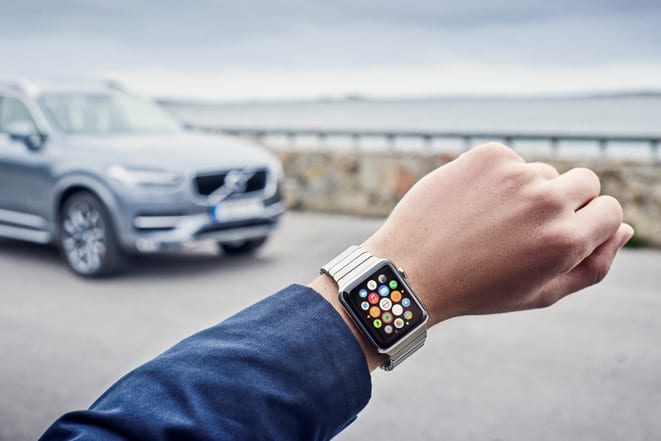Volvo'ya Apple Watch'tan kontrol