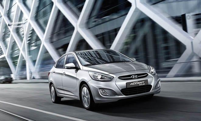 2015 Hyundai Accent Blue 2
