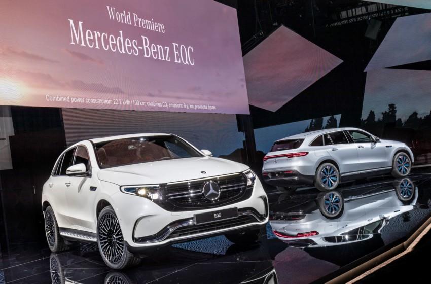 Ve Mercedes-Benz EQC sahnede