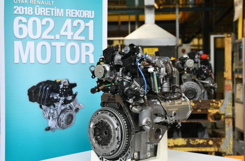 Oyak Renault'dan rekor motor üretimi