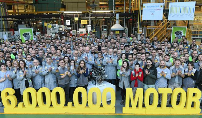 Oyak Renault'dan 6 milyonuncu motor