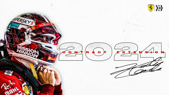 Leclerc 2024'e kadar Ferrari'de