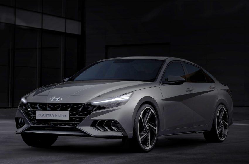 Hyundai'den Yeni Elantra N Line taslak çizimleri