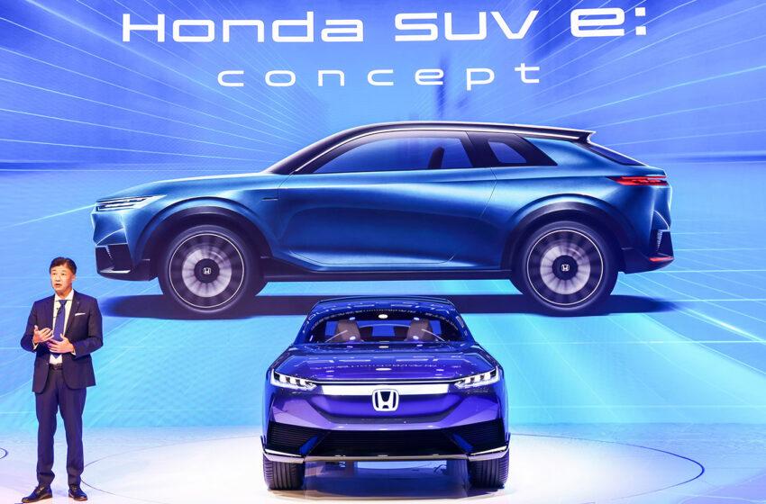 Honda e:concept'in dünya prömiyeri Çin'de yapıldı