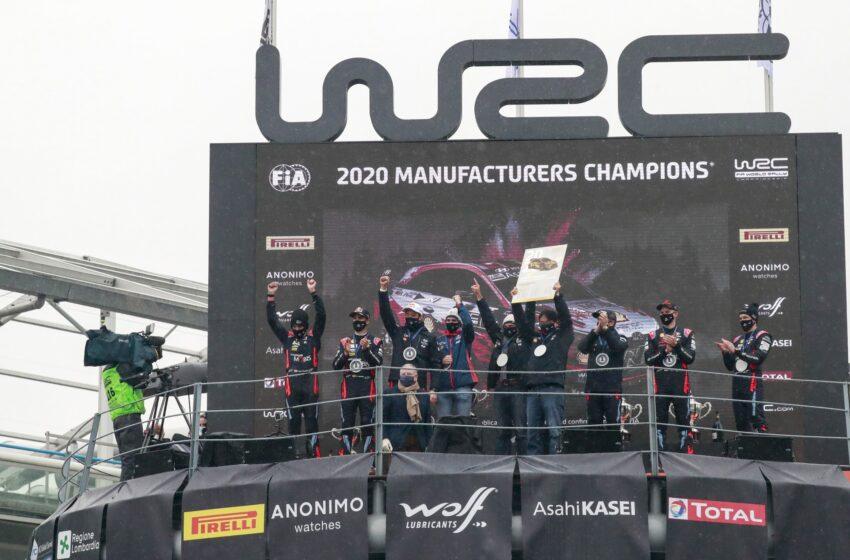 Hyundai WRC'de üst üste ikinci kez şampiyon
