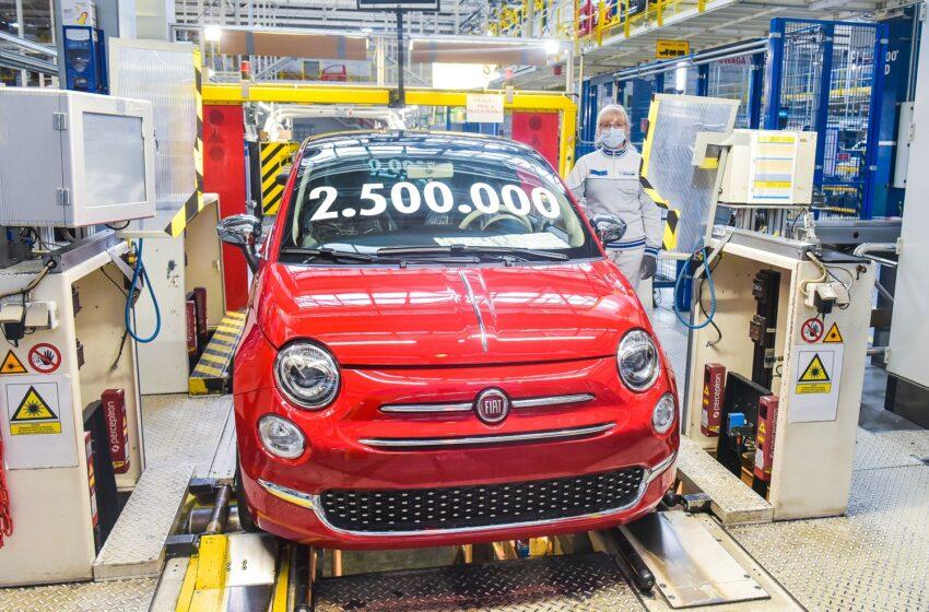 Fiat 500, 2,5 milyonu devirdi