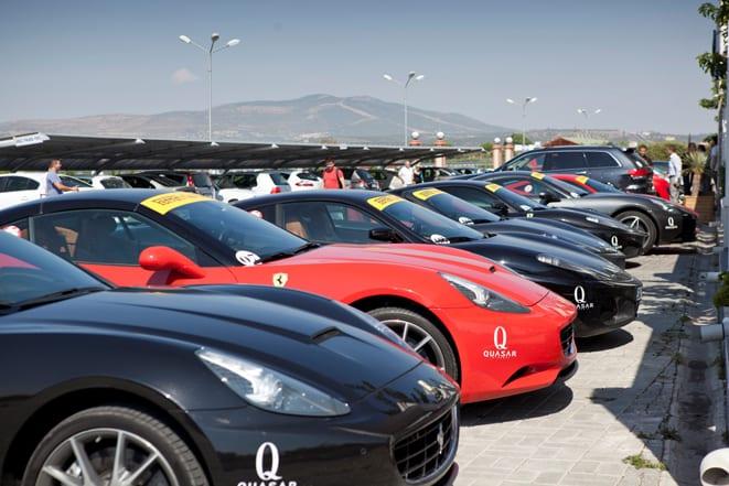 Ferrariler Ege'yi turladı