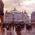 Cortes Edouard Leon, Avenue_de_l' Opera,_Paris, French 1882-1969