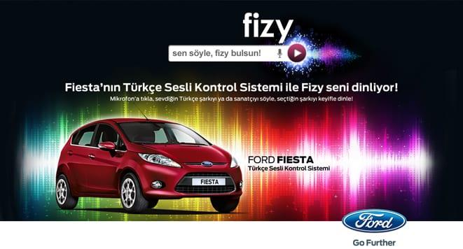 Fiesta'da müzikler fizy.com'dan!