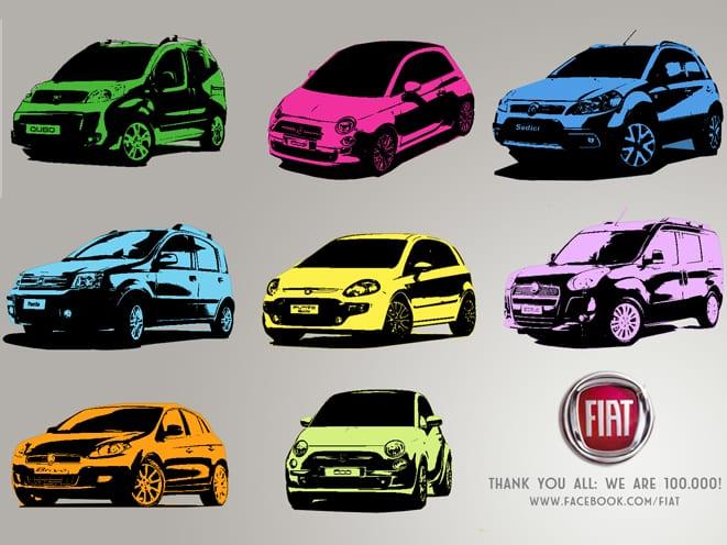 Fiat Facebook'ta yükseliyor