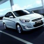 Hyundai Accent Blue www.e-motoring.com