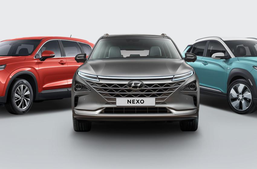 NEXO, Santa Fe ve KONA Electric ile SUV çıkartması