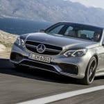 Mercedes-Benz E 63 AMG (W 212) Facelift 2013, Lack: Palladiumsilber, Ausstattung: Schwarz-Weiß