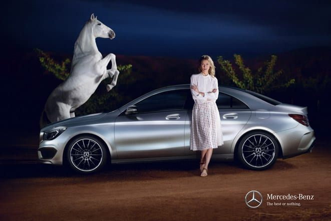 Mercedes-Benz Fashion Week Istanbul_Karlie Kloss and CLA www.e-motoringc.om