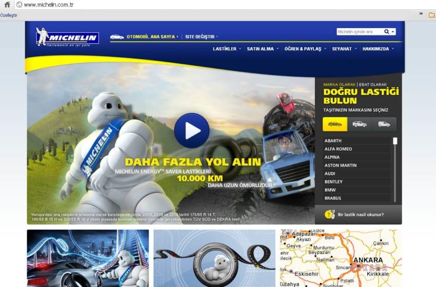 Michelin web sitesini yeniledi