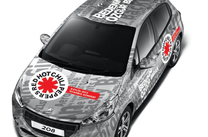 RHCP, Peugeot sponsorluğuyla geliyor