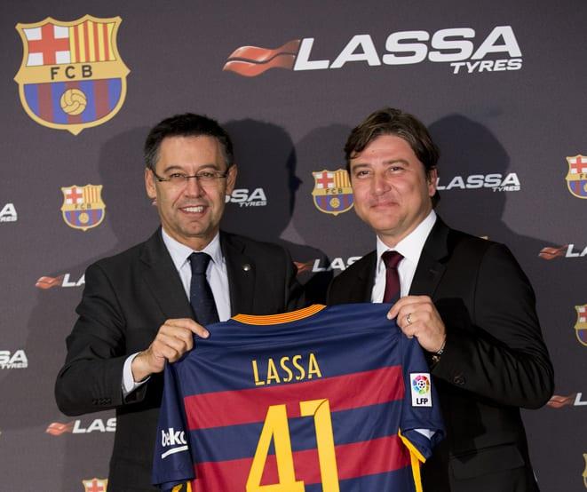 Lassa, Barcelona'ya sponsor