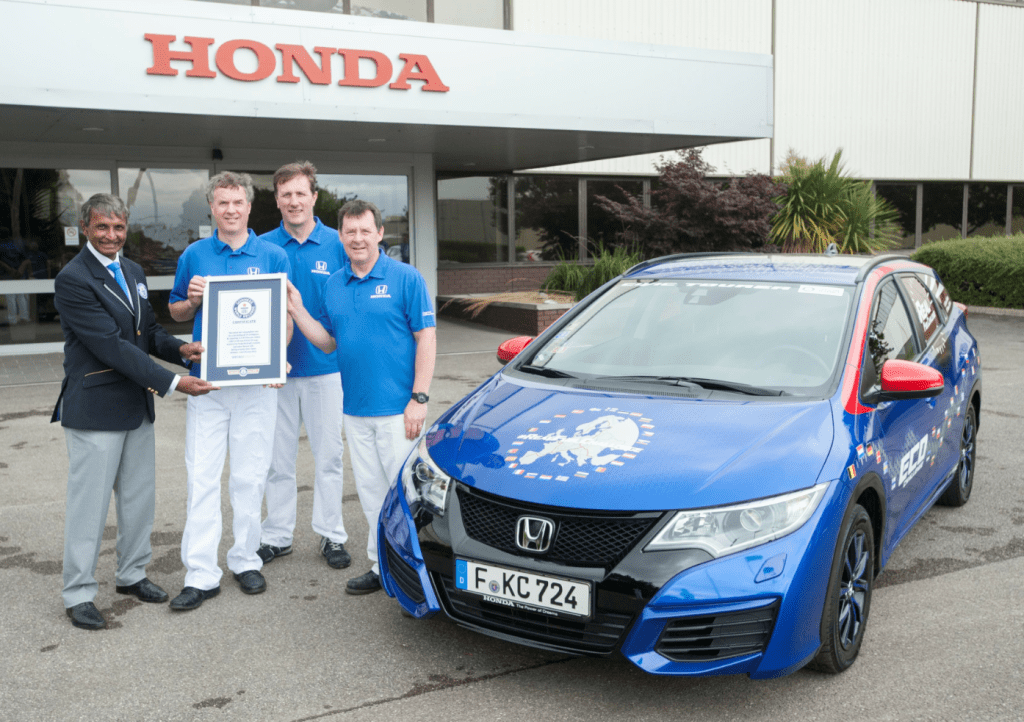 Honda Civic Guiness World Record