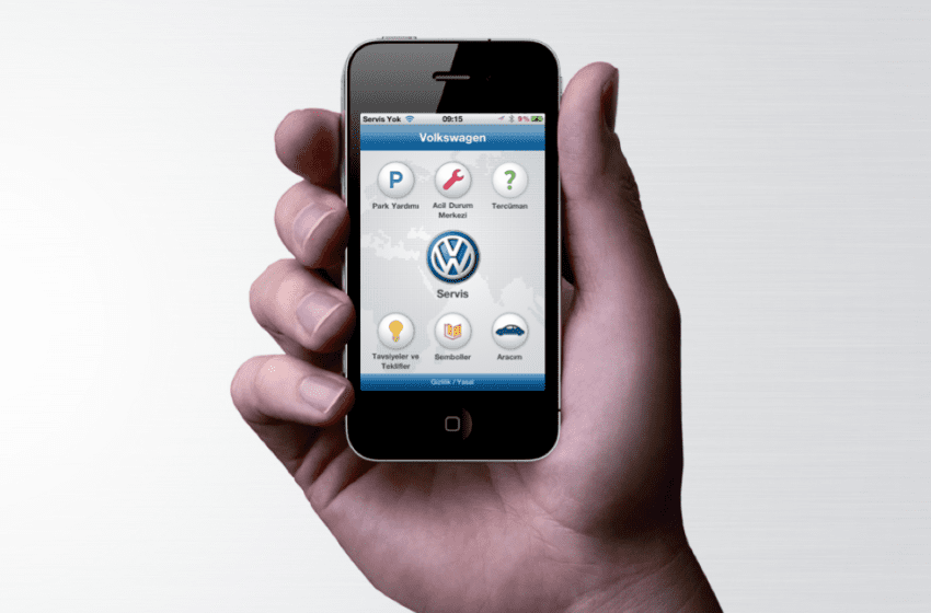 VW'den servis app.