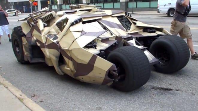 Batman model yükseltmiş: işte yeni Batmobile!