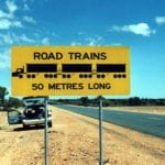 Avustralya yol treni uyarı