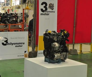 Oyak Renault, 3 milyonuncu motoru üretti
