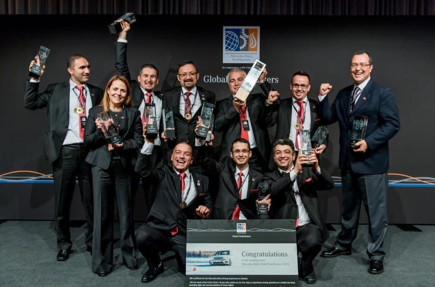 Global Techmasters ödülleri Mercedes-Benz Türk teknisyenlerine