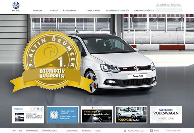 Altın Örümcek'te VW Türkiye birinci